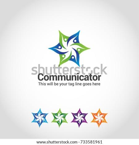 this star human logo basically this stock vector royalty free