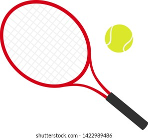 This is a tennis racket and ball illustration.