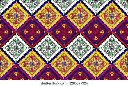 This is the traditional pattern design in Interior Sindh-Pakistan called Rilli.