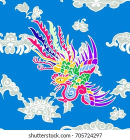 This is a traditionally Chinese ornament with phoenix where it is known as the king of birds in China.It represents the supreme beauty and grace in Chinese art.