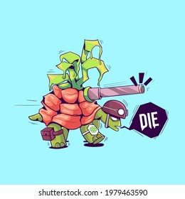 this is The Turtle Soldiers Illustration, you can use this illustration for your artwork, sticker, merchandise, and others. choose the enhanced license for unlimited usage in print.