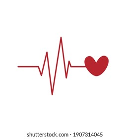 This Is Valentine Heartbeat Vector