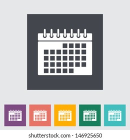 This vector illustration of a calendar flat icon.