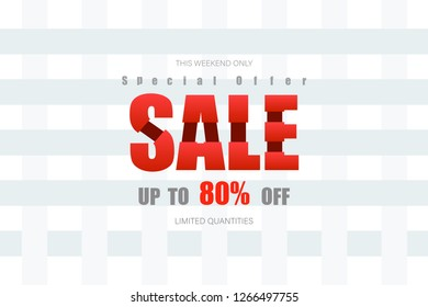 this weekend only up to 80% end of year special offer bone tone vector illustration eps10