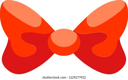 This wonderful red bowknot will be a great addition to your gift box, also you can make it a part of your holiday collage