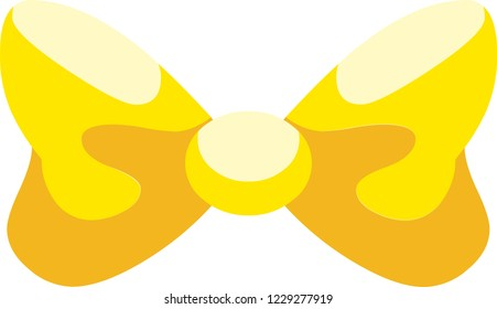 This wonderful yellow bowknot will be a great addition to your gift box, also you can make it a part of your holiday collage
