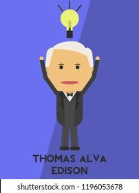 Thomas Alva Edison the Inventor of Incandescent Lights