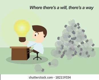 """Thomas Alva Edison """"Proverb """" Where there is a will, there is a way"""" """""""