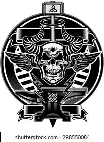 Thor Hammer & Skull
