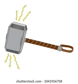 Thor hammer (vector) isolated, vector