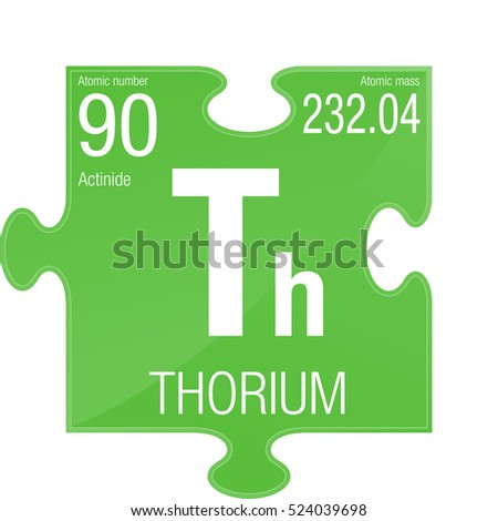 Thorium Symbol Element Number 90 Periodic Stock Vector Royalty Free