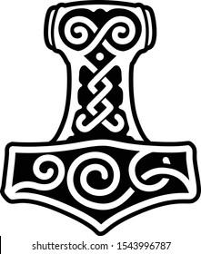 Thor's Hammer Mjolnir. Pagan. Mythology. Thor.