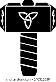 Thors Hammer - Vector Design - Triquetra & Flash