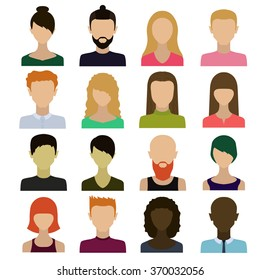 Those people.Avatars of men and women.The images of people's faces.
