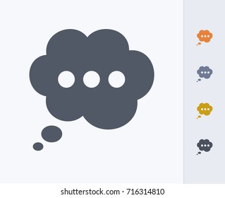Thought Bubble - Carbon Icons. A professional, pixel-aligned icon.