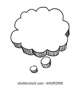 thought bubble doodle