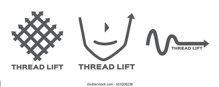 thread lifting logo , icon and vector
