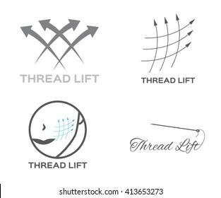 thread lifting logo , skin , icon