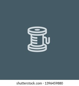 Thread vector icon. Thread concept stroke symbol design. Thin graphic elements vector illustration, outline pattern for your web site design, logo, UI. EPS 10.
