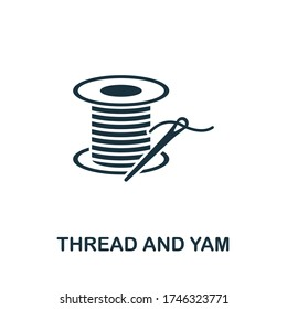 Thread And Yarn icon. Simple illustration from sewing equipment collection. Creative Thread And Yarn icon for web design, templates, infographics and more