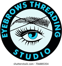 Threading Eyebrows Salon Logo