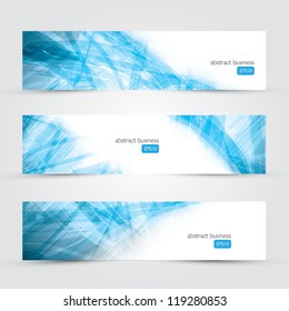 Three abstract business banner backgrounds vector eps10