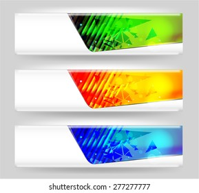 Three abstract isolated banner
