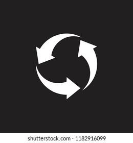 three arrows in circle symbol vector