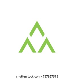 three arrows triangle shape logo vector