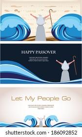 Three Banners of Passover Jewish Holiday (2)