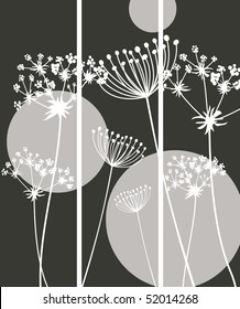 Three banners Queen Anne's Lace