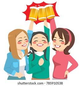 3 Friends Having Fun Stock Illustrations Images Vectors Shutterstock