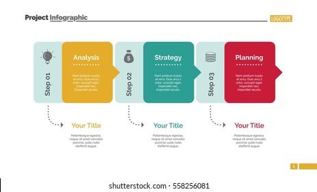 Three Blocks Diagram Slide Template