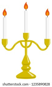Three Candles on Candlestick