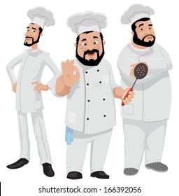 Three Chefs-vector