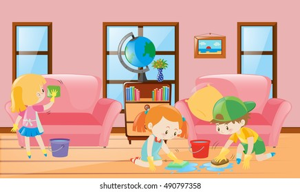 Kids Taking Nap On Sofa Illustration Stock Vector HD (Royalty Free ...