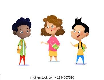 Tres Niños Conversando Stock Vectors, Images & Vector Art ...