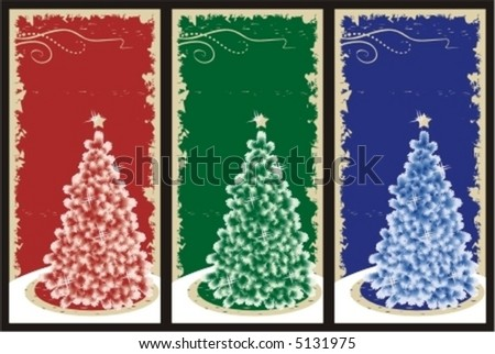 three christmas or new year vertical vector backgrounds cards panels or tags with christmas