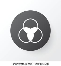 Three circle icon symbol. Premium quality isolated infographic element in trendy style.