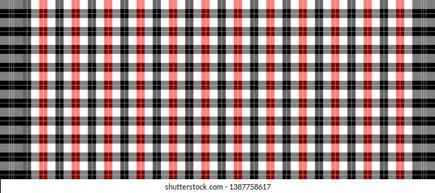 Three color of loincloth vector and illustration.wallpaper ,tablecloth, Scottish plaid.fabric template.Abstract background.