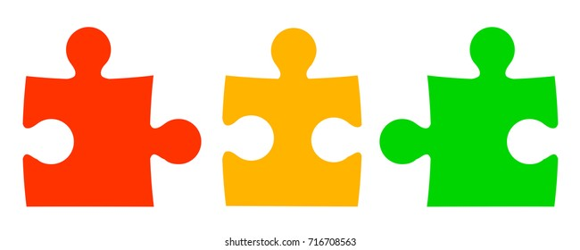 Three color puzzle - for stock