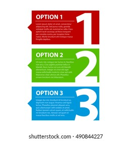 Three colorful options.