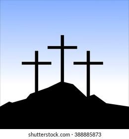 Three Crosses Images Stock Photos Vectors Shutterstock