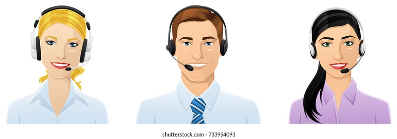 Three Customer service avatars