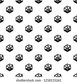Three d printer pattern vector seamless repeating for any web design