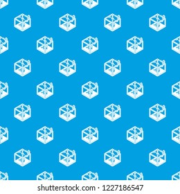 Three d printer pattern vector seamless blue repeat for any use