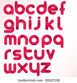 three dimension alphabet set