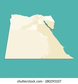 Three Dimensional Egypt Map Vector