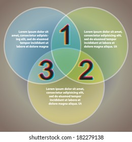 Three easy steps - Vector Infographics