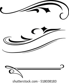 Three elegant vector borders templates.